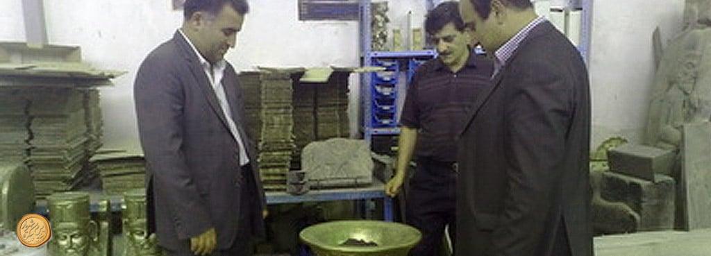 vahidiye - بازدید شهردار وحیدیه از شرکت تندیس و پیکره - vahidiye -  -
